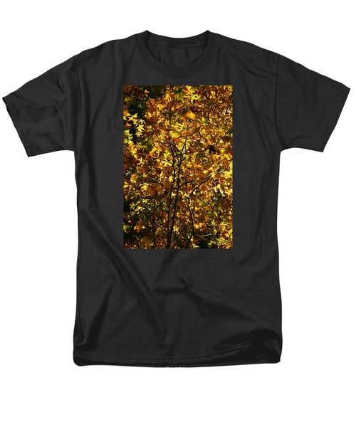 Men's T-Shirt  (Regular Fit) featuring the photograph Radiant Leaves by Karen Harrison