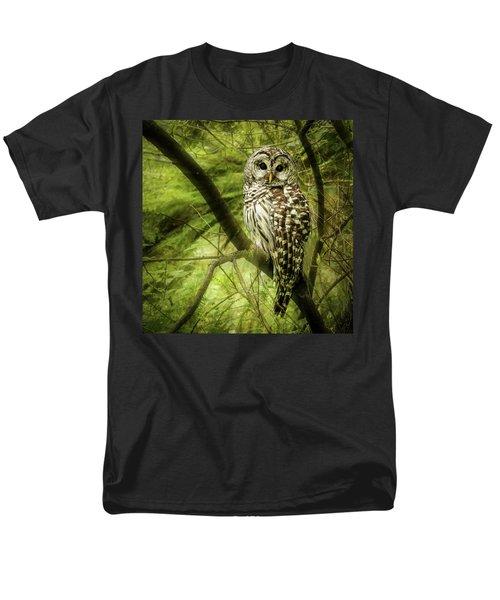 Radiating Barred Owl Men's T-Shirt  (Regular Fit) by Jean Noren