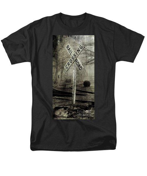 Railroad Crossing Men's T-Shirt  (Regular Fit) by Michael Eingle