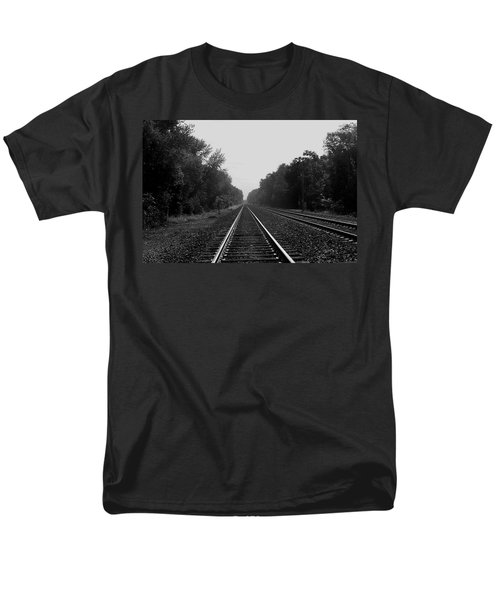 Railroad To Nowhere Men's T-Shirt  (Regular Fit) by Trish Tritz