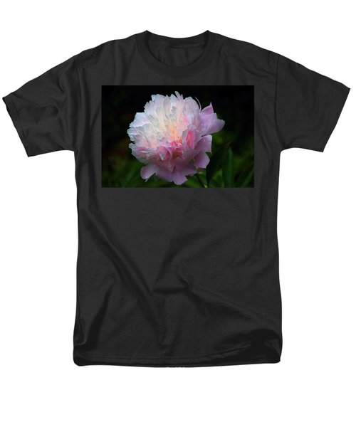 Rain-kissed Peony Men's T-Shirt  (Regular Fit) by Byron Varvarigos