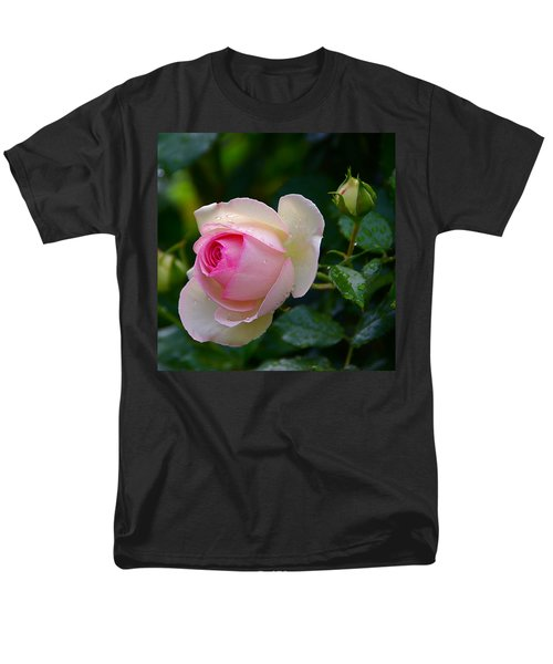 Men's T-Shirt  (Regular Fit) featuring the photograph Rain-kissed Rose by Byron Varvarigos