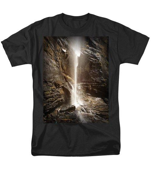 Rainbow Falls Of Jones Gap Men's T-Shirt  (Regular Fit) by Kelly Hazel
