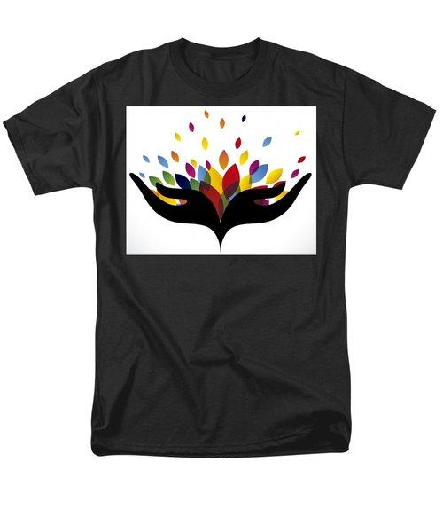 Rainbow Leaves Men's T-Shirt  (Regular Fit)