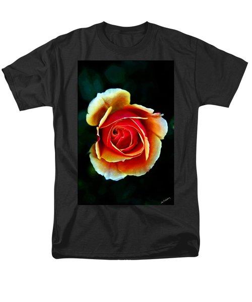 Men's T-Shirt  (Regular Fit) featuring the photograph Rainbow Rose by John Haldane