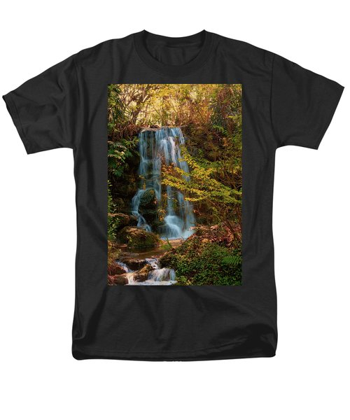 Men's T-Shirt  (Regular Fit) featuring the photograph Rainbow Springs Waterfall by Louis Ferreira