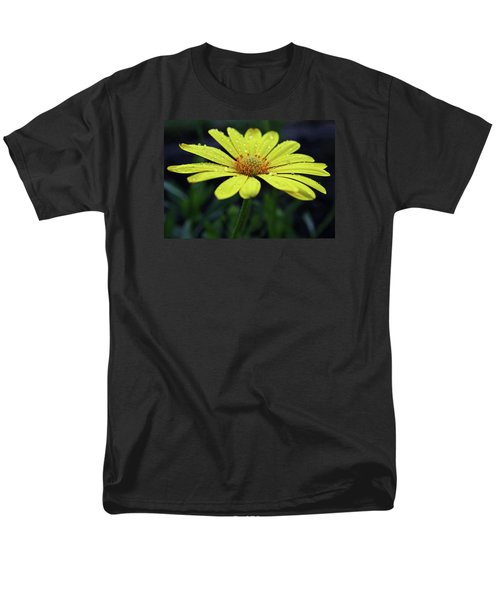 Men's T-Shirt  (Regular Fit) featuring the photograph Raindrops On Daisy by Judy Vincent