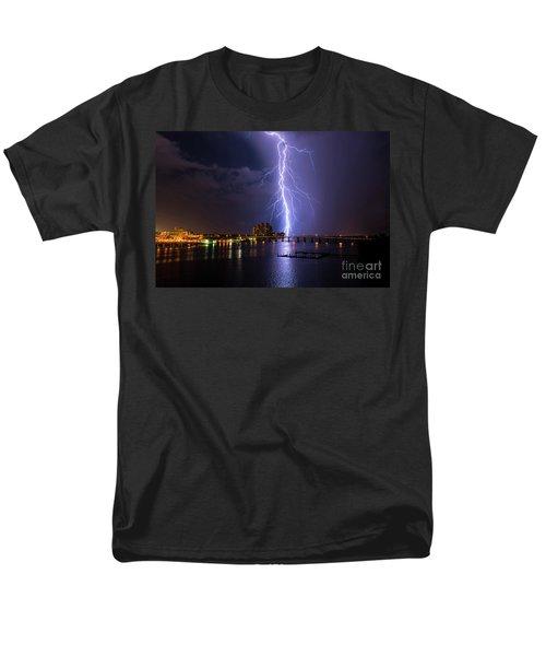 Raining Bolts Men's T-Shirt  (Regular Fit) by Quinn Sedam