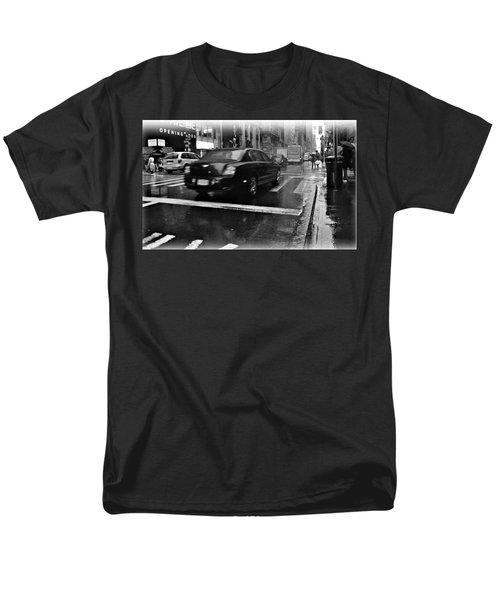 Rainy New York Day Men's T-Shirt  (Regular Fit) by Vannetta Ferguson