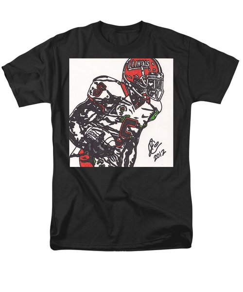 Men's T-Shirt  (Regular Fit) featuring the drawing Rashard Mendenhall 1 by Jeremiah Colley