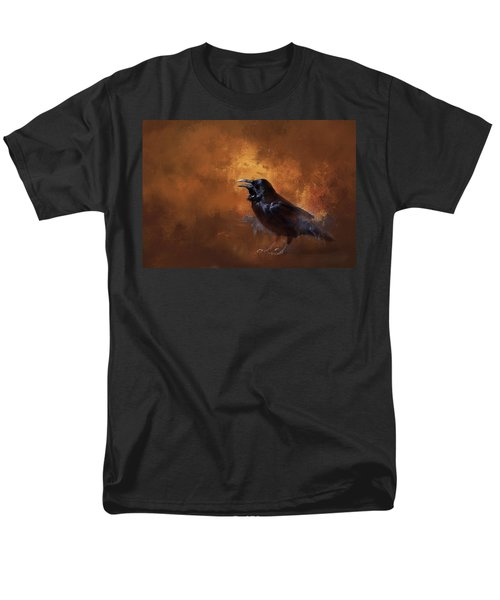 Men's T-Shirt  (Regular Fit) featuring the painting Raven by Theresa Tahara