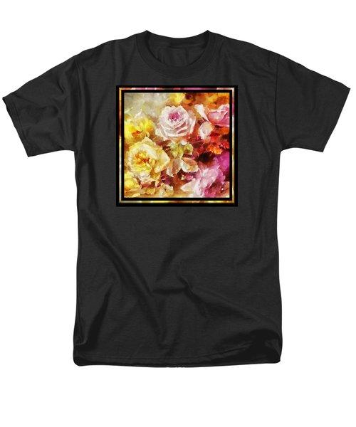 Men's T-Shirt  (Regular Fit) featuring the digital art Ravishing Roses by Charmaine Zoe