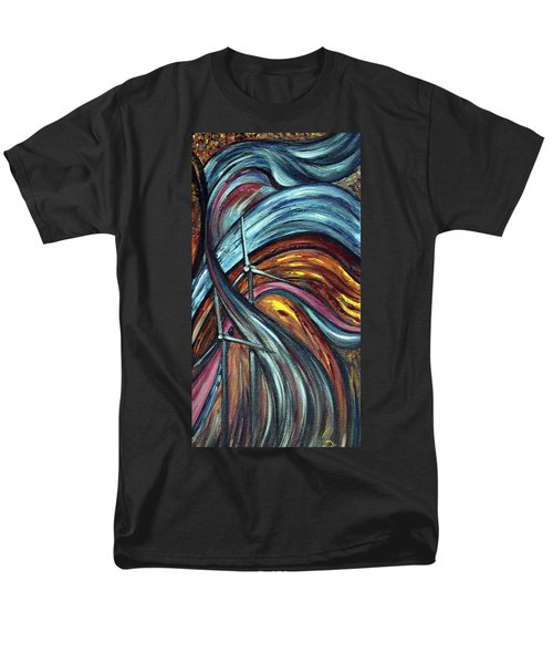 Men's T-Shirt  (Regular Fit) featuring the painting Ray Of Hope 2 by Harsh Malik
