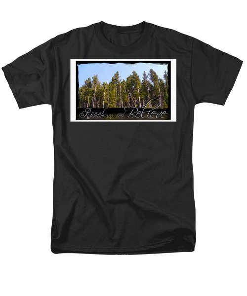 Men's T-Shirt  (Regular Fit) featuring the photograph Reach Up And Believe by Susan Kinney