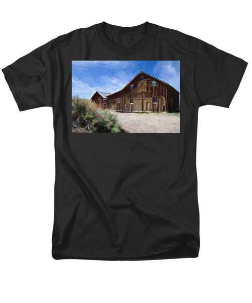 Red Barn Of Bodie Men's T-Shirt  (Regular Fit) by Lana Trussell
