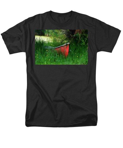 Red Canoe Men's T-Shirt  (Regular Fit) by Debra Baldwin