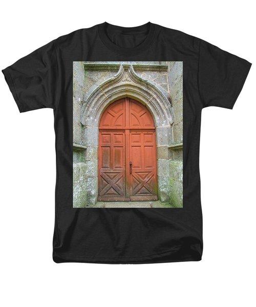 Red Church Door IIi Men's T-Shirt  (Regular Fit) by Helen Northcott