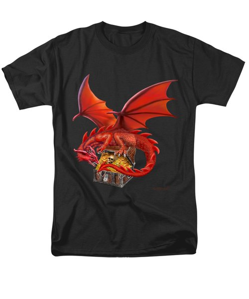 Red Dragon's Treasure Chest Men's T-Shirt  (Regular Fit) by Glenn Holbrook