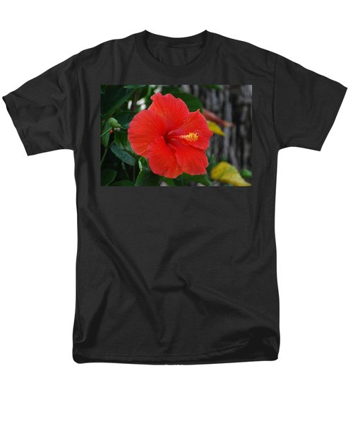 Men's T-Shirt  (Regular Fit) featuring the photograph Red Flower by Rob Hans
