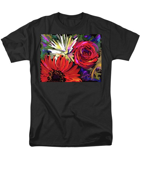 Men's T-Shirt  (Regular Fit) featuring the painting Red Flowers by DC Langer