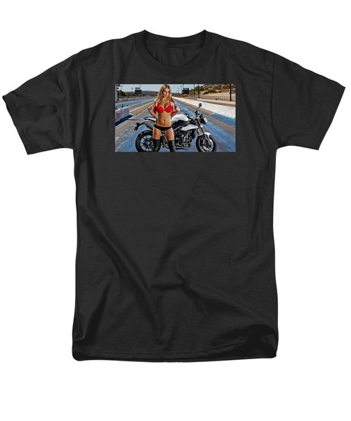 Men's T-Shirt  (Regular Fit) featuring the photograph Red Is Not Always For Ducati by Lawrence Christopher