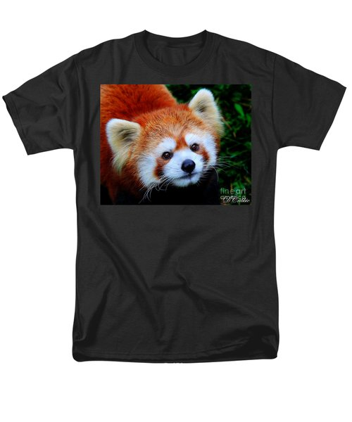 Men's T-Shirt  (Regular Fit) featuring the photograph Red Panda by Davandra Cribbie