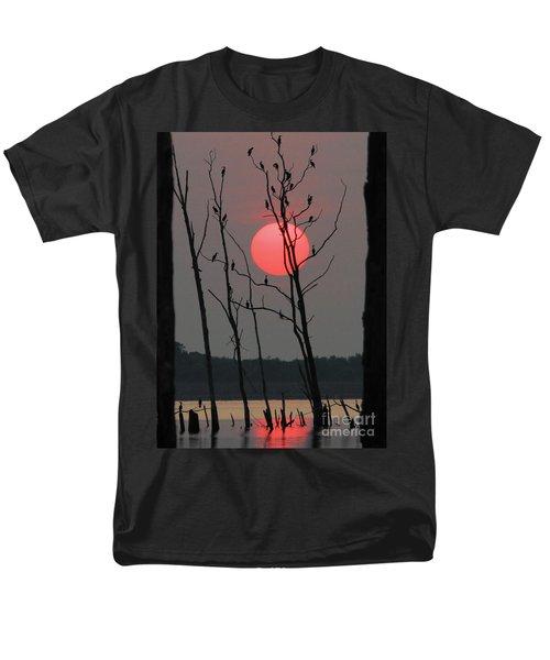 Red Rise Cormorants Men's T-Shirt  (Regular Fit) by Roger Becker