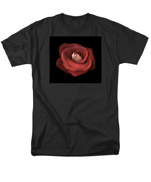 Men's T-Shirt  (Regular Fit) featuring the photograph Red Rose by Test