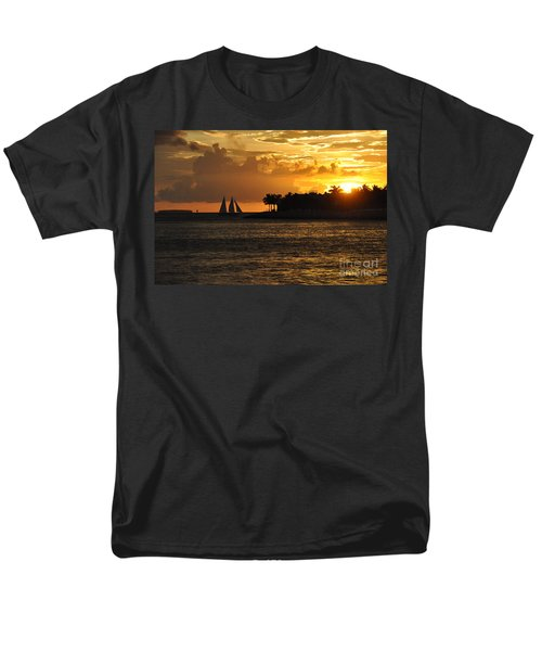 Men's T-Shirt  (Regular Fit) featuring the photograph Red Sails At Night by John Black