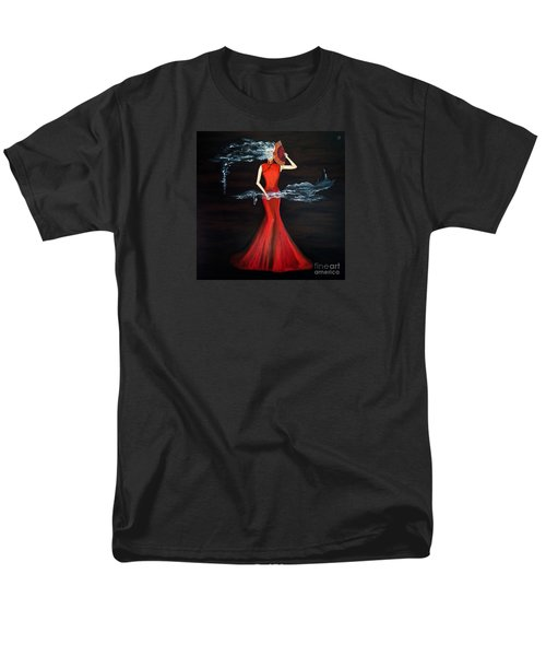 Scented Red Color Men's T-Shirt  (Regular Fit) by Fei A
