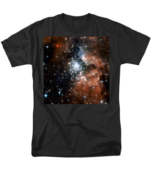 Red Smoke Star Cluster Men's T-Shirt  (Regular Fit) by Jennifer Rondinelli Reilly - Fine Art Photography