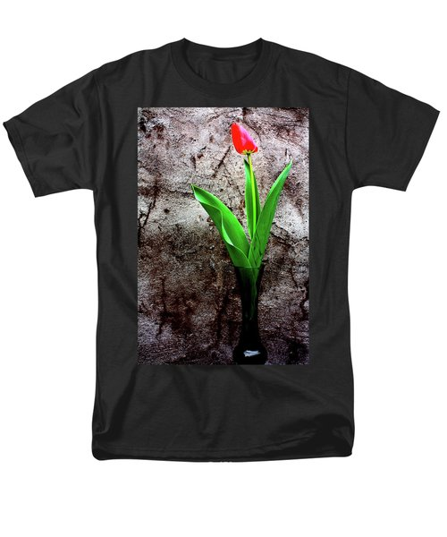 Men's T-Shirt  (Regular Fit) featuring the photograph Red Tulip by Gray  Artus