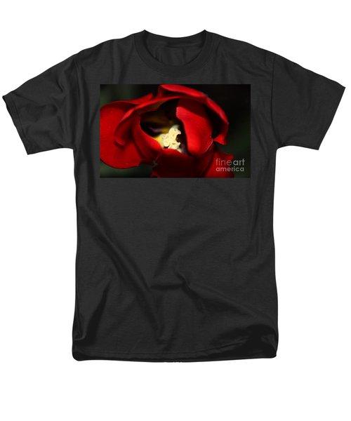 Men's T-Shirt  (Regular Fit) featuring the photograph Red Tulip by Jolanta Anna Karolska
