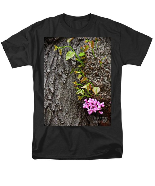 Redbud Flowers 2 Men's T-Shirt  (Regular Fit) by Sarah Loft