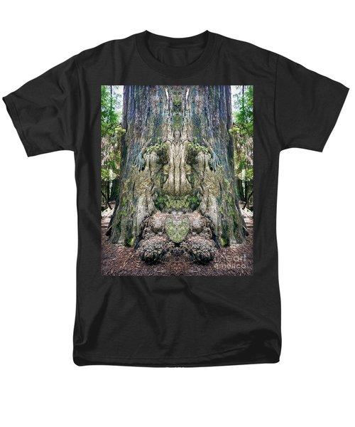 Redwood Tree Face Men's T-Shirt  (Regular Fit) by Martin Konopacki