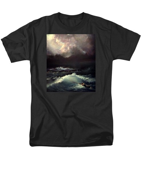 Men's T-Shirt  (Regular Fit) featuring the painting Reef by Mikhail Savchenko