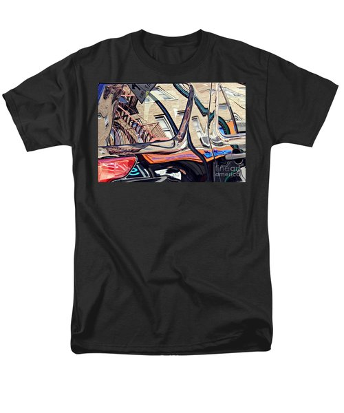 Men's T-Shirt  (Regular Fit) featuring the photograph Reflection On A Parked Car 18 by Sarah Loft