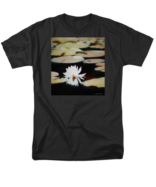 Men's T-Shirt  (Regular Fit) featuring the painting Reflection Pond by Debra     Vatalaro
