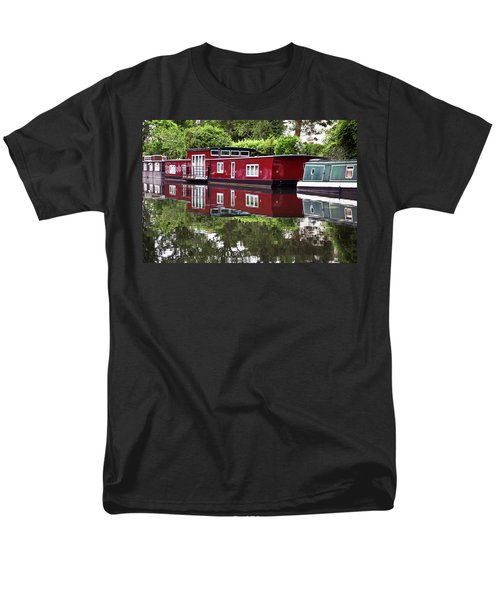 Men's T-Shirt  (Regular Fit) featuring the photograph Regent Houseboats by Keith Armstrong