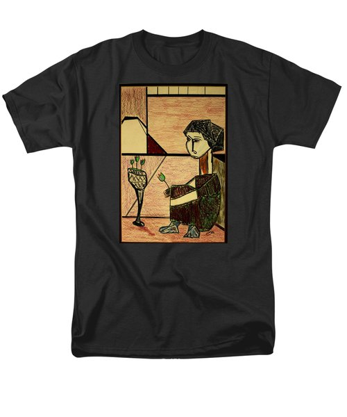 Men's T-Shirt  (Regular Fit) featuring the drawing Remembering by Bill OConnor