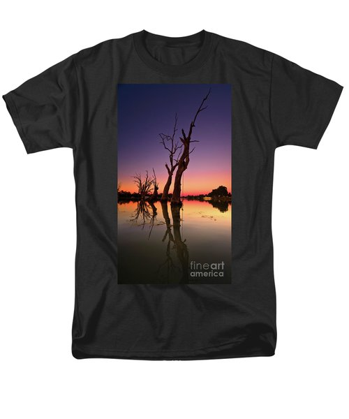Men's T-Shirt  (Regular Fit) featuring the photograph Renmark South Australia Sunset by Bill Robinson