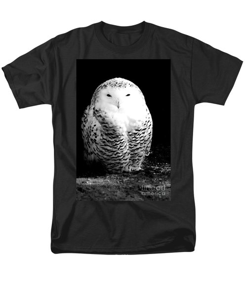 Resting Snowy Owl Men's T-Shirt  (Regular Fit) by Darcy Michaelchuk