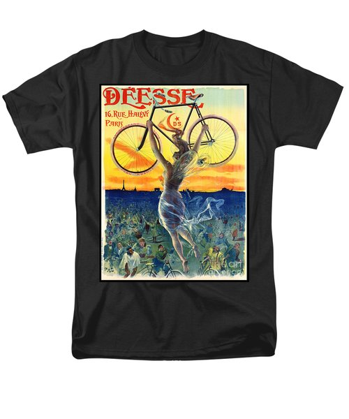 Men's T-Shirt  (Regular Fit) featuring the photograph Retro Bicycle Ad 1898 by Padre Art