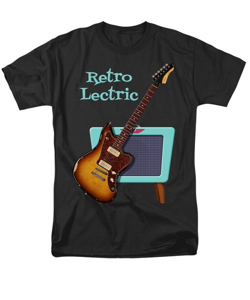 Men's T-Shirt  (Regular Fit) featuring the digital art Retro Lectric by WB Johnston
