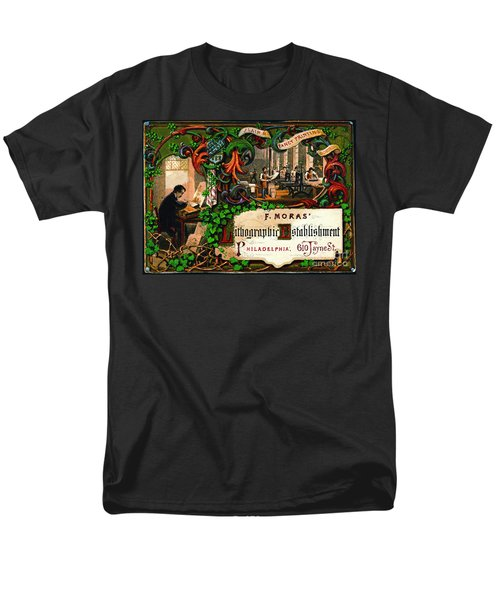 Men's T-Shirt  (Regular Fit) featuring the photograph Retro Printing Ad 1867 by Padre Art