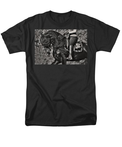 Men's T-Shirt  (Regular Fit) featuring the photograph Rider And Steed Dance D6032 by Wes and Dotty Weber