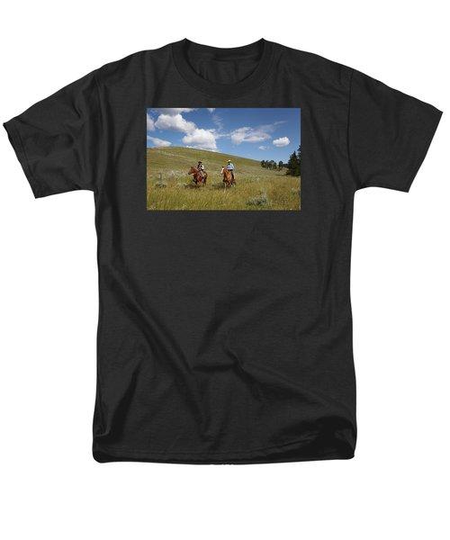 Riding Fences Men's T-Shirt  (Regular Fit) by Diane Bohna