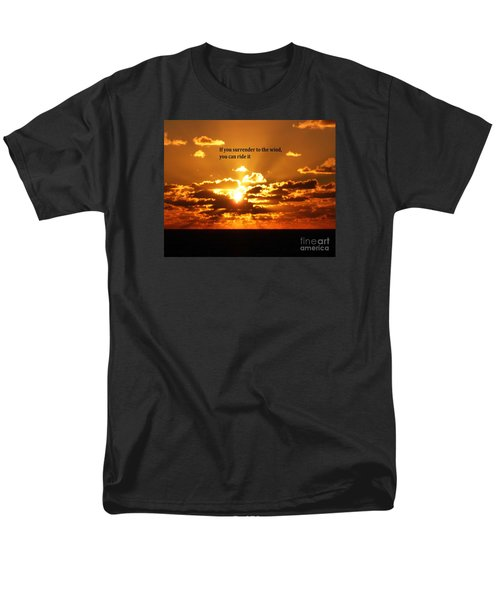 Men's T-Shirt  (Regular Fit) featuring the photograph Riding The Wind by Gary Wonning