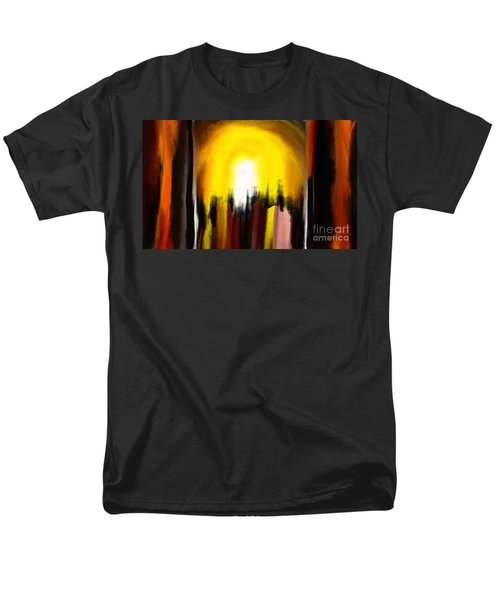 Men's T-Shirt  (Regular Fit) featuring the painting Right Way by Rushan Ruzaick
