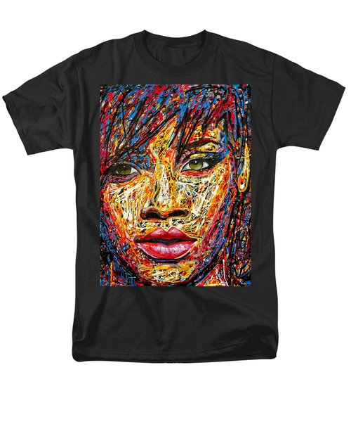 Rihanna Men's T-Shirt  (Regular Fit) by Angie Wright